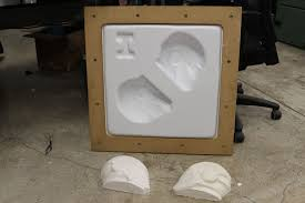 picture of how to vacuum form foam reusing the same master many times