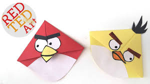 angry birds crafts easy bookmark corners with mice s cuties angry bird bookmark you