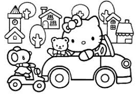 Hello Kitty Driving Car Around Town Coloring Pages 280x200 hello kitty archives printable 2017 calendar on printable calendar by week february 2017