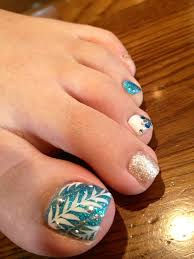 Turquoise Toe Nail Designs Hawaiian Nail Art For Summer Gorgeous Turkoois And Golden