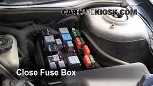 replace a fuse 1999 2004 oldsmobile alero 2000 oldsmobile alero 6 replace cover secure the cover and test component