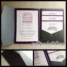 Pocket Wedding Invitations Mesmerizing Exquisite Pocket Wedding
