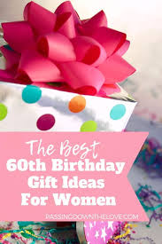 60th birthday gifts for women