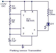 parking sensor circuit electronic circuits and diagram notes