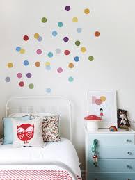Polka Dot Bedroom Rainbow Polka Dot Wall Decals For Kids Room Home Inspiring
