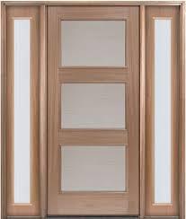baristo mahogany wood door with reeded glass