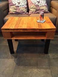 diy pallet coffee table with black