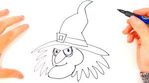 how to draw a witch for kids witch easy draw tutorial
