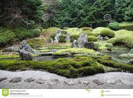 Japanese Rock Garden Peaceful Japanese Zen Garden With Pond Rocks Gravel And Moss