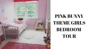 Little Miss Ju0027s Pink Bunny Themed Bedroom Tour