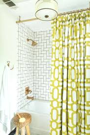 smlf shower curtain yellow and white