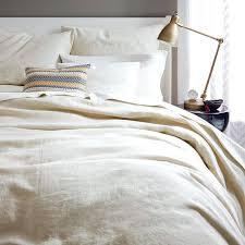 flax linen duvet cover shams natural west elm bedding set 2
