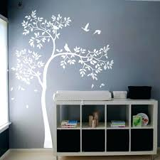 white tree wall decal huge vinyl sticker birds baby nursery bedroom mural kids uk