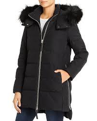 Mid Fox Fur Trim Down Coat