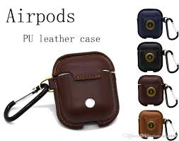new for apple airpods leather case bluetooth wireless headset keychain hanging waist dropping storage bag actionproof per case case for iwatch from