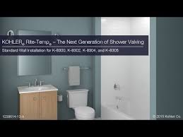 standard wall installation rite temp the next generation in shower valving you