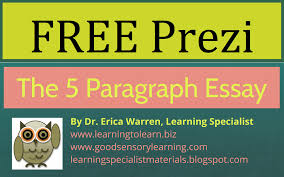 five paragraph essay instruction