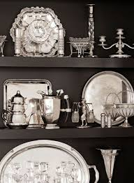 Decorating With Silver Trays A collection of silver Silver Care and Display How to Care for 79