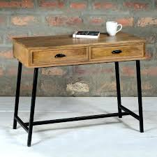 sofa table with drawers industrial modern narrow console table with drawers in mango wood amp metal