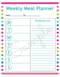 meal planner free free printable menu planning sheet