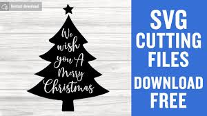 Free and premium cut files svg, eps, png and dxf files for personal cutting projects with your cricut, silhouette, and other machines. Christmas Tree Svg Free Cutting Files For Cricut Scan N Cut Free Download Youtube