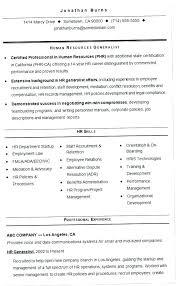 Sample Resume Hr Generalist