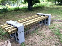 concrete blocks bench how to build an outdoor kitchen with cinder wooden block planter wood fiber cement be