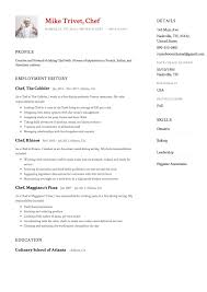Chef Resume Sample Chef Resume Samples Resumeviking 48