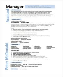 Account Manager Resume Inspiration 28 Account Manager Resume Templates Samples Examples Format