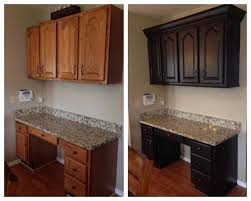 refinishing kitchen cabinets stain or paint