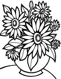 Disegno Di Vaso Di Fiori Per Bambini Da Stampare Gratis E Colorare