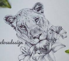 lioness tattoo. Simple Tattoo This But With Sunflowers More Information Bildresultat  Fr Lioness Tattoo To Lioness Tattoo N