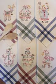 kitchen towel embroidery designs. christmas tea towels pattern for hand embroidery by bird brain designs kitchen towel t