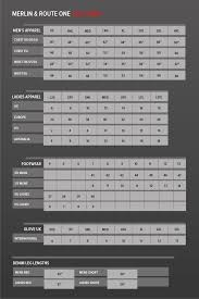 Merlin Sizing Charts Motorcycle Stuff