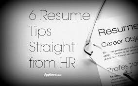 6 Resume Tips Straight From Hr Applicantpro
