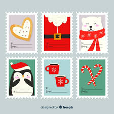 Christmas Labels Set Vector Free Download