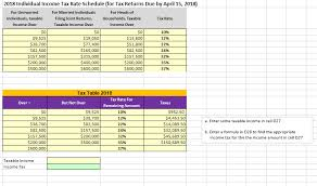 tax table 2018