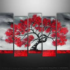 tree painting canvas abstract painting
