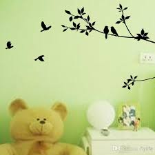 tree branch and birds art decorative wall stickers black vinyl wall stickers for room decoration wall stickers home decor wall stickers decoration wall