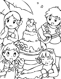 Small Picture Luau Coloring Page Handipoints