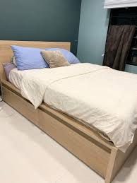 ikea malm storage bed frame furniture