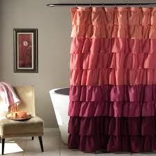 pink shower curtains. Ruffle Shower Curtain Pink Curtains