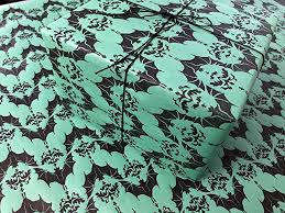 baroque bats gothic wrapping paper green 24x36