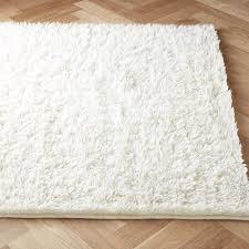 flokati ivory wool rug