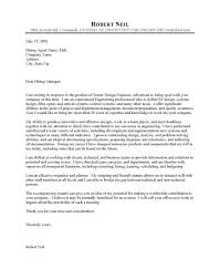 Sample Chemical Engineering Cover Letter Cover Letter Engineering
