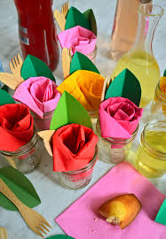Paper Napkin Folding Flower Paper Napkin Roses Napkin Rose Napkins Paper Napkins