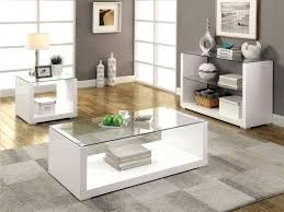 glass end tables for living room. More Views. Sandro White High Gloss And Glass Coffee Table End Tables For Living Room