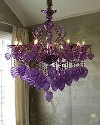horchow murano bohemian designer italian purple glass chandelier 8 light