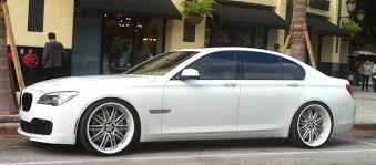 BMW 3 Series white 750 bmw : BMW 750 on white rims | Exotic Cars on the Streets of Miami