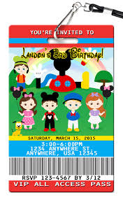 Mickey Mouse Birthday Invitations - PVC ...